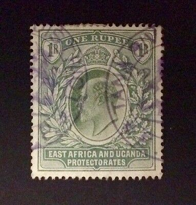 EAST AFRICA & UGANDA 1Rupee Green EviiR STAMP Used