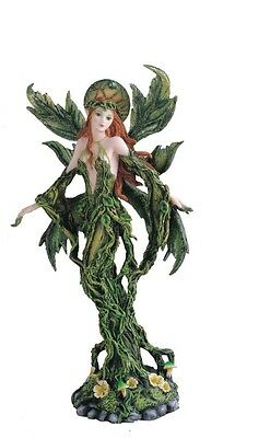"12.5"" Inch Green Tree Fairy Statue Figurine Figure Fairies Magic Fantasy"