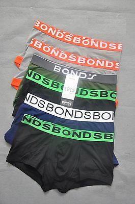 6x BONDS Mens Trunk,Underwear, Boxer, Brief,  Cotton Stretch