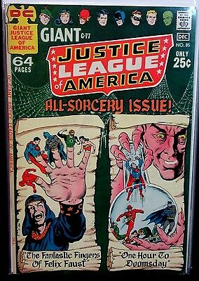 JUSTICE LEAGUE OF AMERICA #85 (VF/NM) 68 Page Giant! High Grade! DC 1970