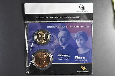 2014 Calvin and Grace Coolidge First Spouse Presidential Coin & Medal Set