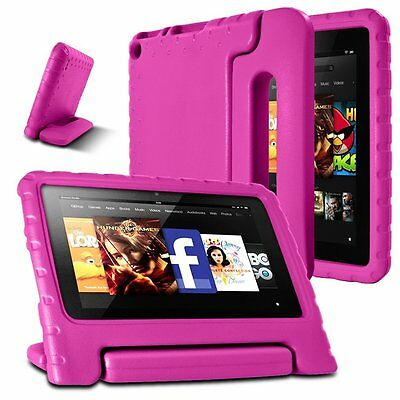 AFUNTA F i r e 7 2015 Case,Light Weight Shock Proof Convertible Handle Stand EVA