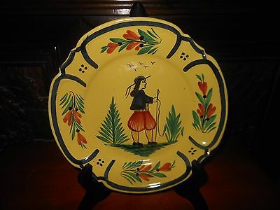 French Art Pottery Quimper Plate (1)