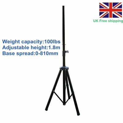 1 X PA Speaker Tripod Stands Adjustable Height High Quality Steel Tube DJ Disco