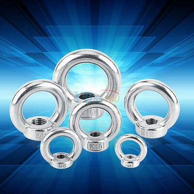 M6/M8/M10/M12/M14/M16 304 Stainless Steel Lifting Eye Nut Ring Shape Nuts Newest