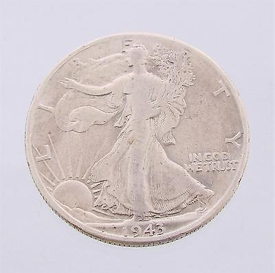 1943D United States Half Dollar, Walking Liberty, Silver Coin, gVG