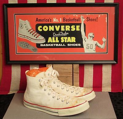 Vintage 1950s Converse Chuck Taylor Basketball Sneakers Shoes Red Tag Sz.11 NOS