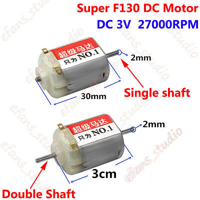 DC 1.5V 3V 27000RPM High Speed Strong Magnetic 130 Motor DIY 4WD Racing Car Toy