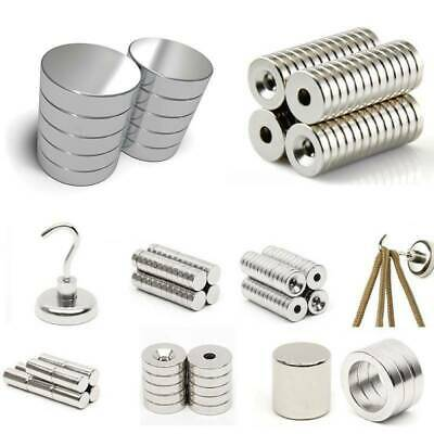 1-100 Magnets Rare Earth Cylinder NdFeB Super Strong Shere N52 Neodymium Block