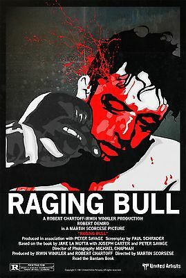 Raging Bull Movie Poster - Various Sizes - Price Includes Uk Post - (1)