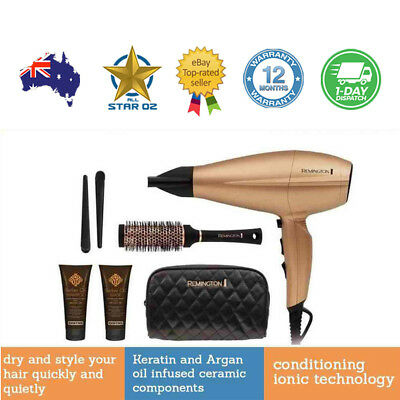 Remington Hairdryer Kit Blower Hair Dryer Brush Blow Wave Heater Set Salon