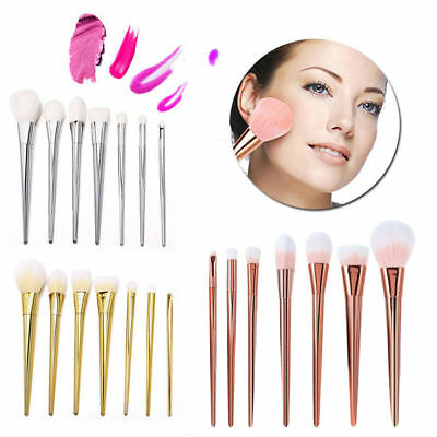 7pcs Cosmetic Brushes Makeup Tool Set Powder Eyeshadow Lip Foundation Kits US
