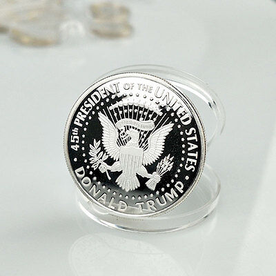Inaugural USA President Donald Trump Eagle Novelty Silver Coin Collection Gift