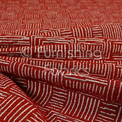 New Soft Quality Chenille Woven Modern Gingham Patchwork Pink Upholstery Fabric