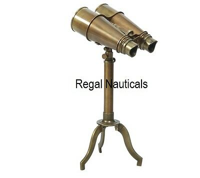 Table Standing Astro Brass Antique Telescope With Tripod Stand Binocular