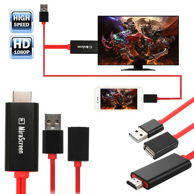 Lightning USB Cable Digital AV Adapter HDMI HDTV Display for Apple iPhone AH295