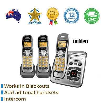 Cordless Home Phone Set with Digital Answering Machine Uniden Intercom WiFi
