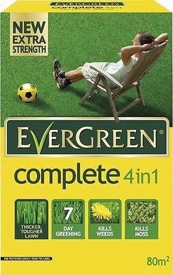 EverGreen 80sqm Complete 4in1, Fertiliser, Lawn Feed, Weedkiller (25% ExtraFree)