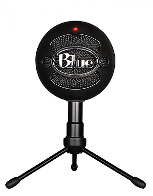 Computer Laptop USB Microphone Snowball iCE Quality Audio Skype Recording, Black