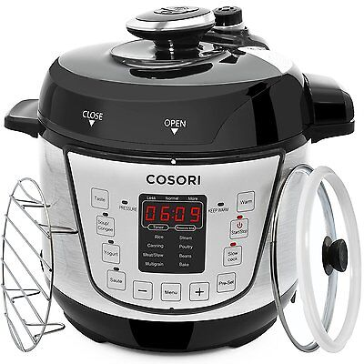 Pressure Cooker Electric Stainless Steel Instant Pot Rice Timer Cook Food New