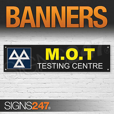 MOT TEST /& SERVICING CENTRE BANNER GARAGE SIGN waterproof PVC with Eyelets NM003