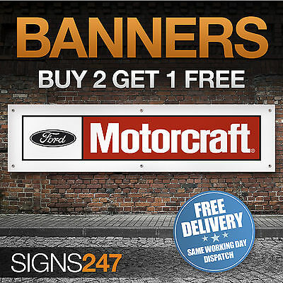 Ford Motorcraft Logo garage workshop PVC banner sign (ZA188)