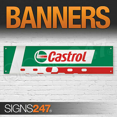 Castrol Motor Oil Logo Red and Green garage workshop PVC banner sign (ZA183)