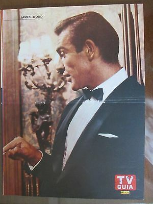 James Bond Seann Connery 60`s Poster From A Magazine In Spanish