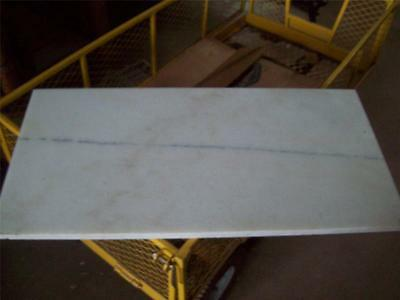 "White Marble Slab 31 1/2"" x 15 3/4"" x 3/4"" Antivibration Furniture Restaurant"