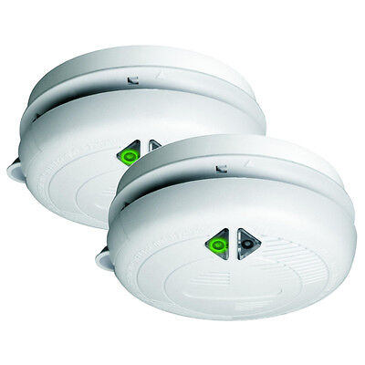 Threat detector 2 Smoke Detectors Fire Alarms for Early smoke detection white