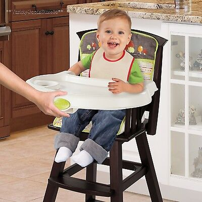 Infant High Chair, Wood Baby Feeding Seat Classic Comfort Summer Fox Friends