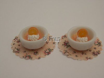 Dolls house food: Orange  mousse  for 2  -By Fran