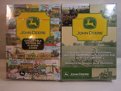 2 Decks Unopened John Deere Licensed Collectible Playing Cards