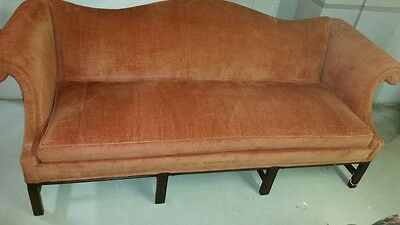 Kittinger Camel-Back Sofa, Mahogany Legs