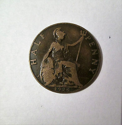 1924  George V Half Penny Coin