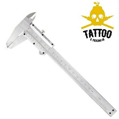BODY PIERCING Stainless Steel CALIPER Measure Ruler Gauge - Autoclavable