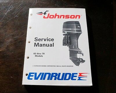 Johnson Evinrude Outboard Service Manual 60 thru 70 Models - 1988 P/N 507756