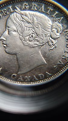 Canada Silver 1858 20 Cent Coin XF