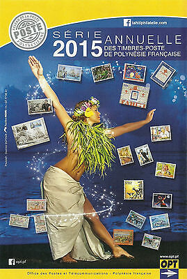 New French Polynesia Complete   Year 2015 + Booklets + Philatelic Doc Mnh