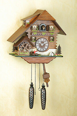 Cuckoo Clock, Original Black Forest, Spinning Mill Wheel, Cuckoo Clock 425q