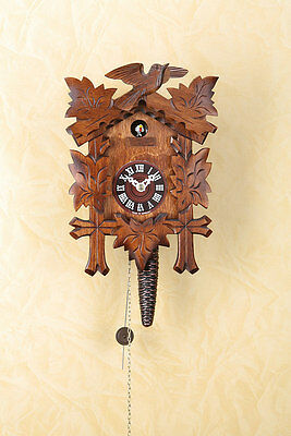 Quarter-hour striking Cuckoo clock with 1-day chain-driven movement,Nut,