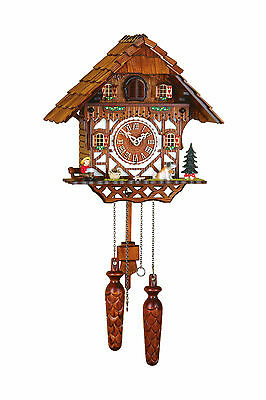 Cuckoo Clock, Original Trenkle Black Forest Quartz Movement Handmade 404q Hzzg