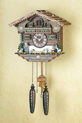 Cuckoo clock Heidi, cuckoo, Black  forest, handpainted, Made in Germany 405Q