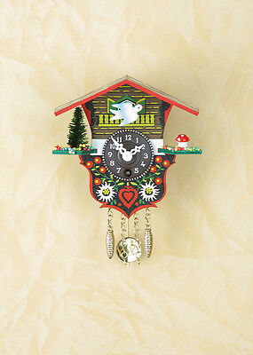 Pendulum Clock Cuckoo Made in Germany Black Forest Gift Idea 18p