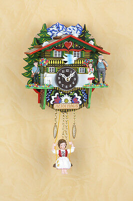 Pendulum Clock Black Forest Cuckoo Clock with heidifigur Made in Germany 503sq