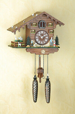 Beautiful Cuckoo Clock, Black Forest, Moving Figures, Made in Germany 434qt