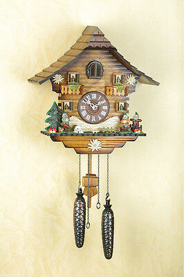 Cuckoo Clock with Dwarf, Black forest, gnomes, Made in Germany 430Q