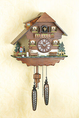 Cuckoo Clock, Spinning Dancer, Black Forest, Cuckoo Clock, Made in Germany 408qt