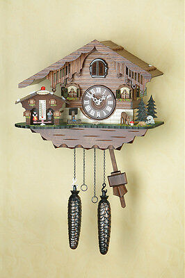Cuckoo Clock, with Weather-house, Black Forest, 415Q