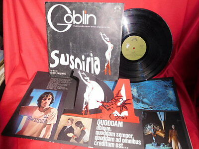 GOBLIN Suspiria OST LP 1977 ITALY VG+ First Pressing Pop-up Gimmick Cover
